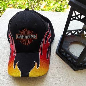 Harley Davidson baseball hat.